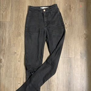 Super high waisted American apparel jeans